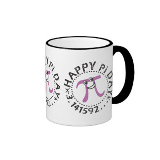Cute Happy Pi Day Ringer Mug