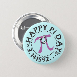 Cute Happy Pi Day - Wearable Pi Day Gift 6 Cm Round Badge