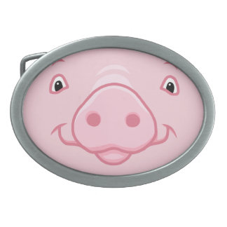 Cute Happy Pink Pig Face Belt Buckle
