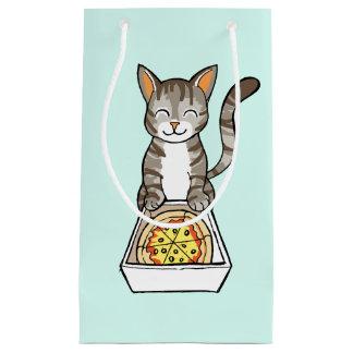Cute Happy Pizza Cat / Kitten Drawing Gift Bag