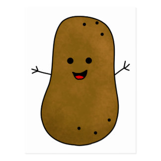 Cute Happy Potato Postcard