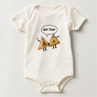 Cute Happy Purim Hamantaschen Baby Bodysuit