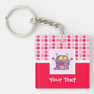 Cute Happy Purple Monster Key Chain
