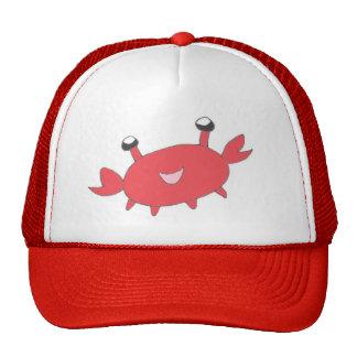 Cute Happy Red Crab Cap