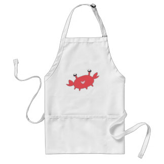 Cute Happy Red Crab Standard Apron