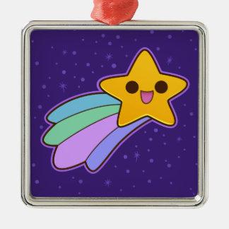 Cute Happy Shooting Star Christmas Ornaments