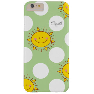 Cute Happy Smiley Sunshine And Polka Dot Pattern Barely There iPhone 6 Plus Case