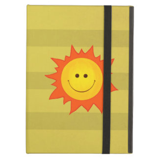 Cute Happy Smiling Sun Kickstand iPad Air Cover