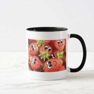 Cute Happy Strawberries Mug