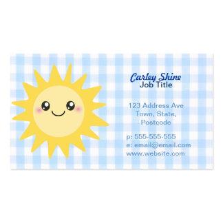Cute Happy Sun Business Card Templates