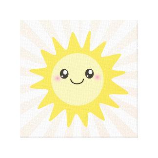 Cute Happy Sun Canvas Print