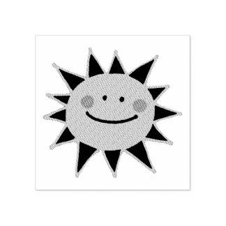 cute happy sun cartoon rubber stamp