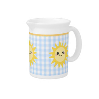 Cute Happy Sun Pitcher