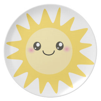 Cute Happy Sun Plate