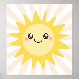 Cute Happy Sun Print