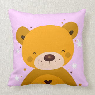 Cute Happy Teddy Pillow