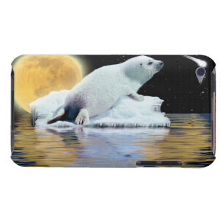 Cute Harp Seal Fantasy Art Wildlife Supporter Barely There iPod Case