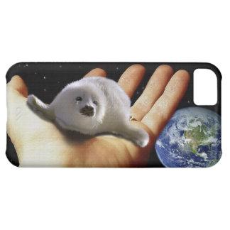 Cute Harp Seal Fantasy Art Wildlife-Supporter Case iPhone 5C Case