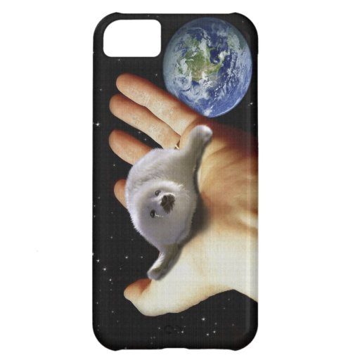 Cute Harp Seal Fantasy Art Wildlife Supporter iPhone 5C Covers