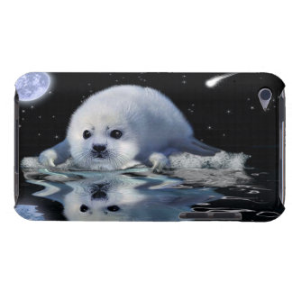 Cute Harp Seal Fantasy Art Wildlife Supporter Barely There iPod Covers