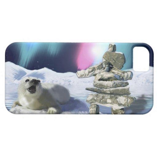Cute Harp Seal Fantasy Art Wildlife Supporter iPhone 5 Cases