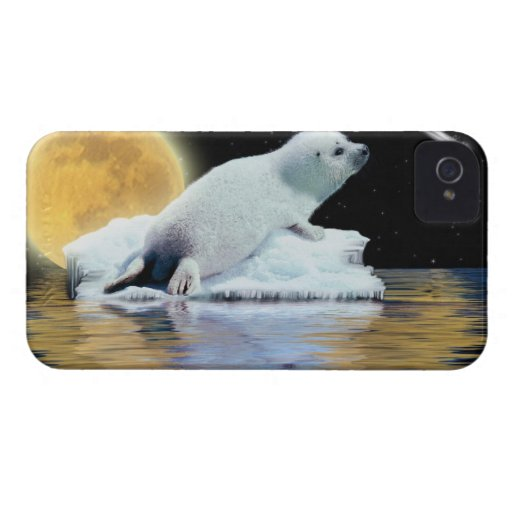 Cute Harp Seal Fantasy Art Wildlife Supporter Blackberry Cases