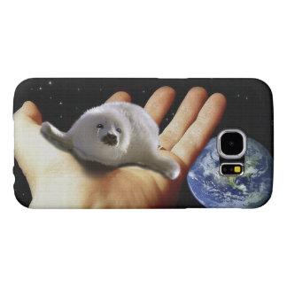 Cute Harp Seal Fantasy Art Wildlife-Supporter Case Samsung Galaxy S6 Cases