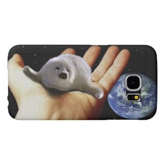 Cute Harp Seal Fantasy Art Wildlife Supporter Case Samsung Galaxy S6 Cases