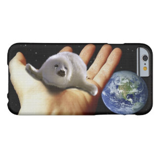 Cute Harp Seal Fantasy Art Wildlife-Supporter Case Barely There iPhone 6 Case