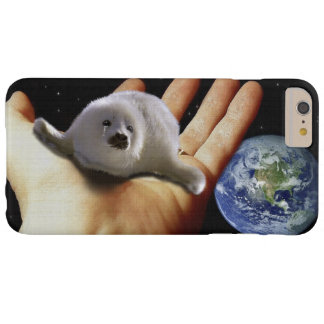 Cute Harp Seal Fantasy Art Wildlife-Supporter Case Barely There iPhone 6 Plus Case