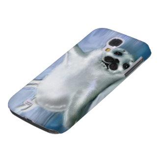 Cute Harp Seal Fantasy Art Wildlife Supporter Galaxy S4 Case