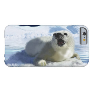 Cute Harp Seal & Ice Art for Wildlife Supporters iPhone 6 Case