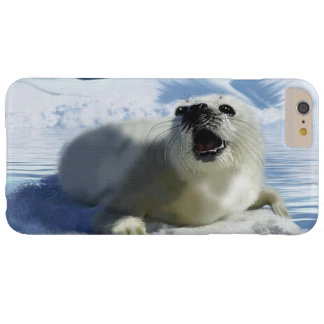 Cute Harp Seal & Ice Art for Wildlife Supporters Barely There iPhone 6 Plus Case