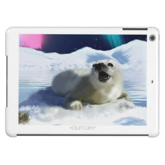 Cute Harp Seal & Ice Art for Wildlife Supporters iPad Air Case