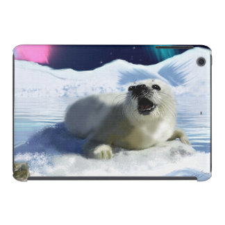 Cute Harp Seal & Ice Art for Wildlife Supporters iPad Mini Covers