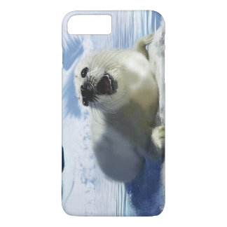 Cute Harp Seal & Ice Art for Wildlife Supporters iPhone 7 Plus Case