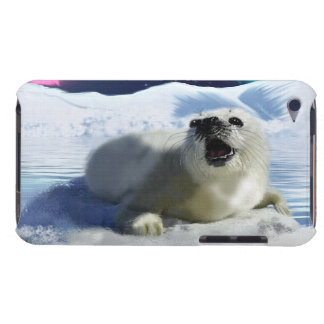 Cute Harp Seal & Ice Art for Wildlife Supporters iPod Touch Case-Mate Case