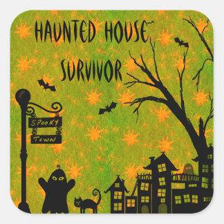 Cute Haunted House Survivor Stickers