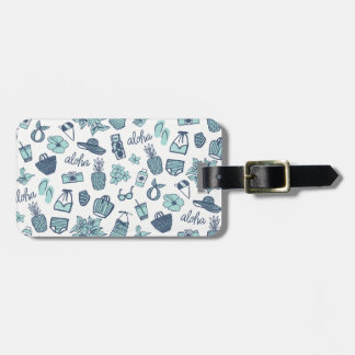 Cute Hawaiian Luggage Tag
