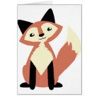 Cute Head-tilt Fox Card