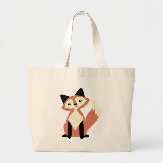 Cute Head-tilt Fox Large Tote Bag