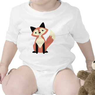 Cute Head-tilt Fox Bodysuit
