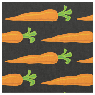Cute healthy veggie carrot pattern DIY fabric