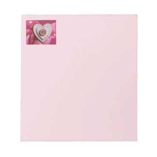 Cute Heart and Button Notepad