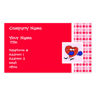 Cute Heart Boxing Pack Of Standard Business Cards