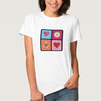 Cute Heart Cube Tshirt