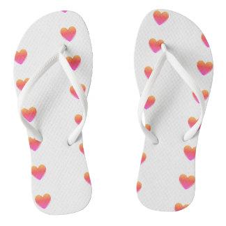 Cute Heart Flip Flops