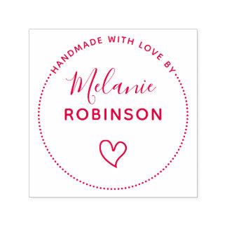 Cute Heart   Handmade With Love By Custom Name Self-inking Stamp