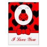 Cute Heart Ladybug Card