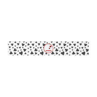 Cute Heart Ladybugs Birthday Party Invitation Belly Band